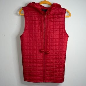 For Cynthia lightweight quilted sleeveless hoodie